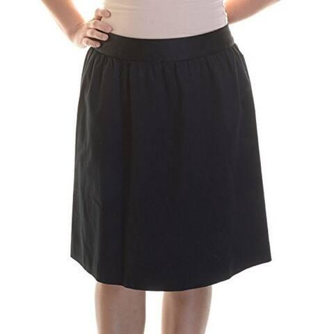 Inc International Concepts New Black A-Line Skirt 12 $79.5 DBFL
