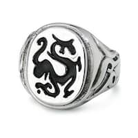 Stainless Steel Dragon Ring (Sizes 9-12)