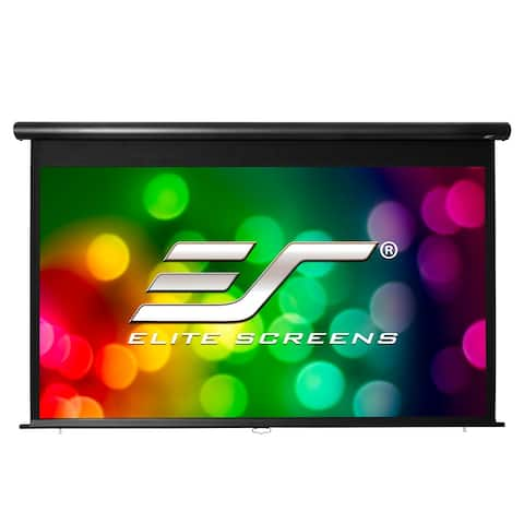 """Elite Screens OMS100HM Yard Master Manual 100"""" MaxWhite Outdoor Projector Screen - Silver"""