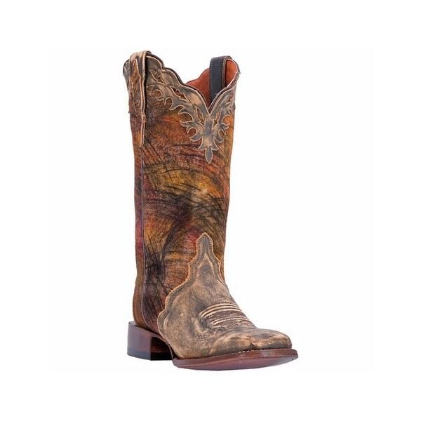 Dan Post Western Boots Womens Margie Broad Square Tan Triad
