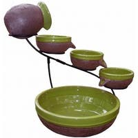 Smart Solar Solar Powered 4 Tier Cascading Fountain Kiwi Rustic Brown 23963R01