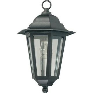 Quorum International Q791 1 Light Outdoor Pendant with Beveled Glass Shade