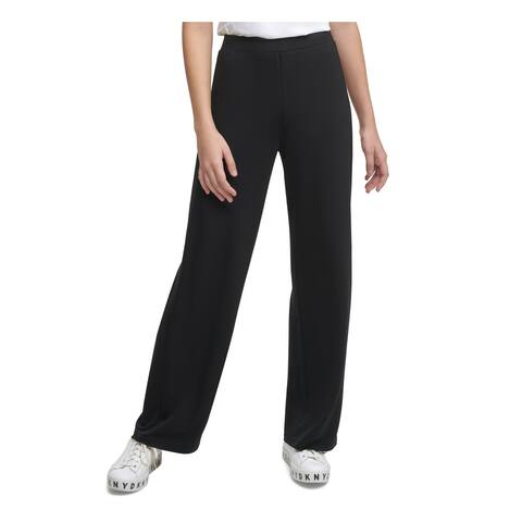 DKNY Womens Black Wide Leg Pants Size XL