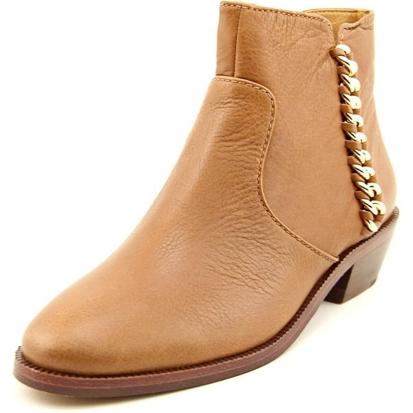 Coach Corine Round Toe Leather Ankle Boot