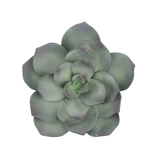 """6"""" Green and Purple Artificial Succulent Flower Decoration - N/A"""