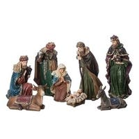 "8-Piece Traditional Christmas Nativity Set with Jewels 7"" - multi"