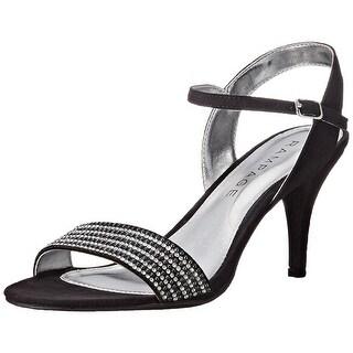 Rampage Women's Fayrah Rhinestone Glitter Dress Ankle Strap Sandal