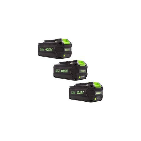 Greenworks L-300 40V 3AH Smart Lithium-Ion Battery (3 Pack) - Green