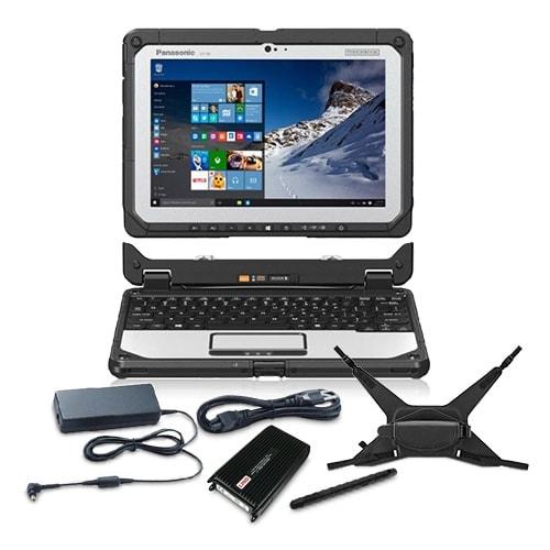 Panasonic CF-20A0004KM Bundle 10.1- Inch Fully-Rugged Laptop
