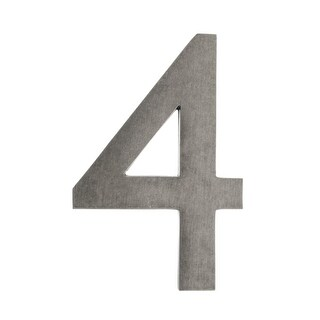 Architectural Mailboxes 3585-4 5 Inch Solid Cast Hand Finished Brass House Numbers (4 options available)