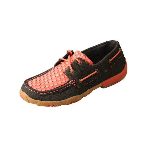 Twisted X Casual Shoes Womens Basketweave Coral Black