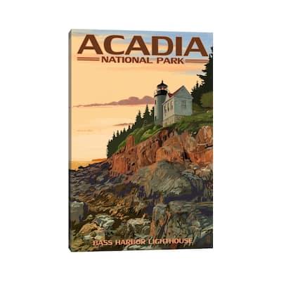 "iCanvas ""Acadia National Park (Bass Harbor Head Lighthouse)"" by Lantern Press Canvas Print"