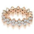 1.50 cttw. 14K Rose Gold Round Diamond Eternity Ring - Thumbnail 0