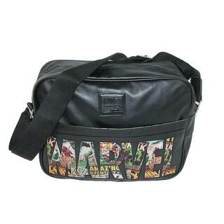 Marvel Comic Logo Messenger Bag - Black