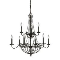 Vaxcel Lighting H0059 Novara 9 Light Two Tier Chandelier - 32 Inches Wide