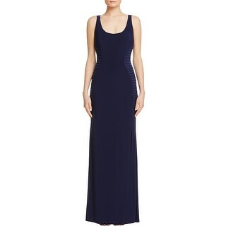 Laundry by Shelli Segal Womens Evening Dress Pleated Ribbed Side