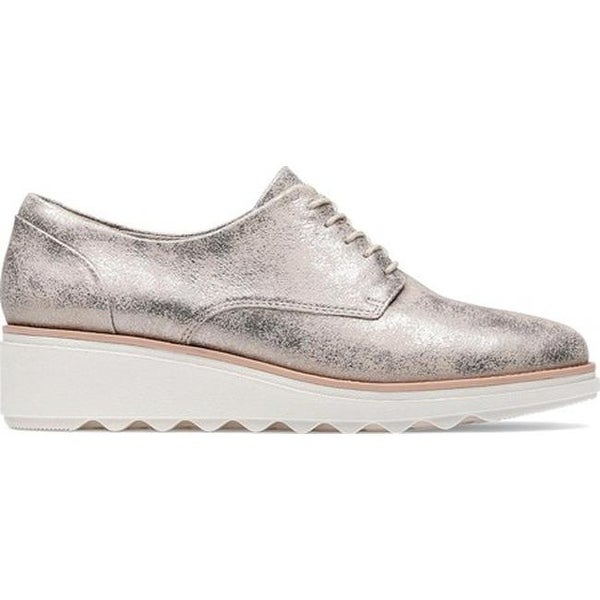 bf4f8cd6f3 Shop Clarks Women's Sharon Crystal Oxford Pewter Suede - On Sale - Free  Shipping Today - Overstock - 27346804