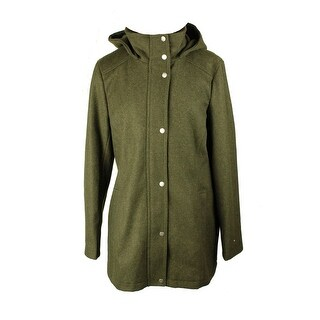 Tommy Hilfiger Olive Hooded Peacoat L