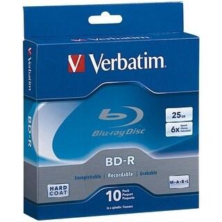 Verbatim 97238M Verbatim 25 GB 6x Blu-ray Single Layer Recordable Disc BD-R, 10-Disc Spindle 97238