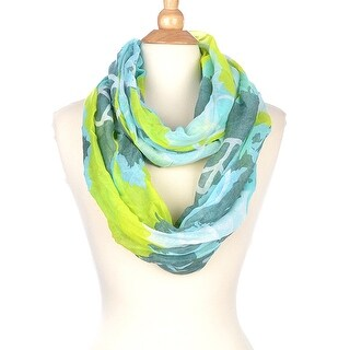 Peace Sign Infinity Scarf
