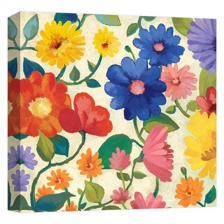 """PTM Images 9-124605  PTM Canvas Collection 12"""" x 12"""" - """"Spring Bouquet III"""" Giclee Flowers Art Print on Canvas"""