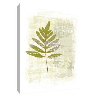 "PTM Images 9-154522  PTM Canvas Collection 10"" x 8"" - ""Breathe"" Giclee Leaves Art Print on Canvas"