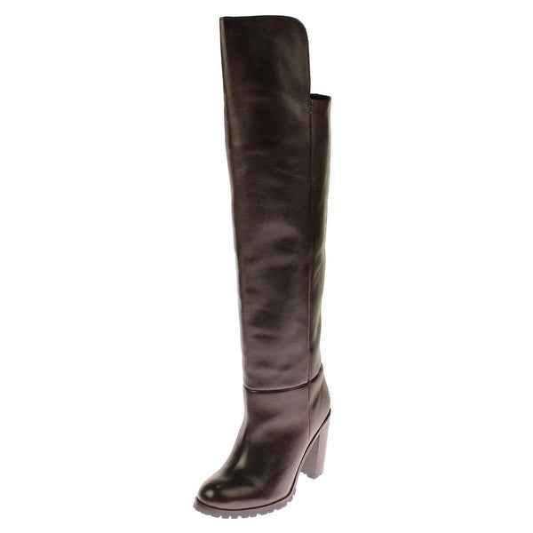 Seychelles Womens Alexandrite Over-The-Knee Boots Leather Stacked