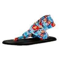Sanuk Sandals Girl Yoga Sling Burst Prints Knit Slip On - 7/8 infant