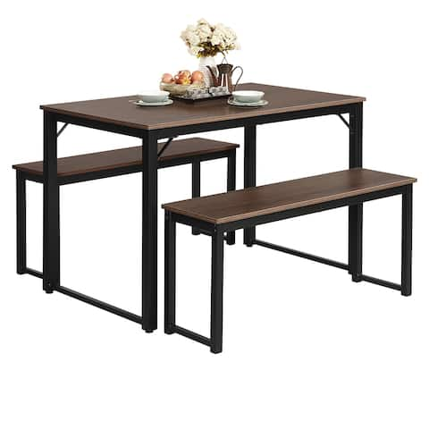 Costway Modern 3 Piece Dining Set Studio Collection Soho Dining Table