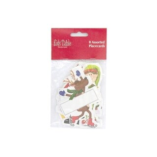 Holiday Fun kid number 039; s place cards pack of 8 - Case of