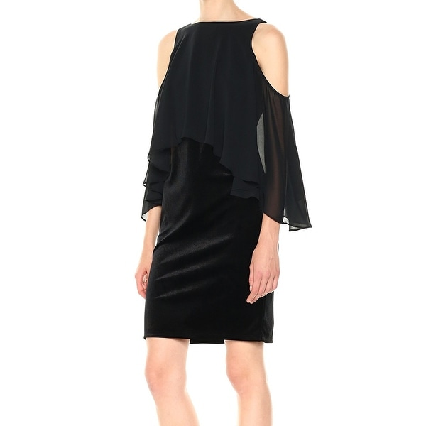 4bff55d0600d Shop Laundry By Shelli Segal Black Womens Size 8 Sheath Velvet Dress - Free  Shipping On Orders Over  45 - Overstock.com - 27016756