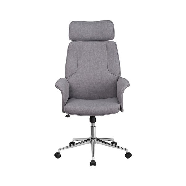 Shop Offex High Back Gray Fabric Executive Swivel Office