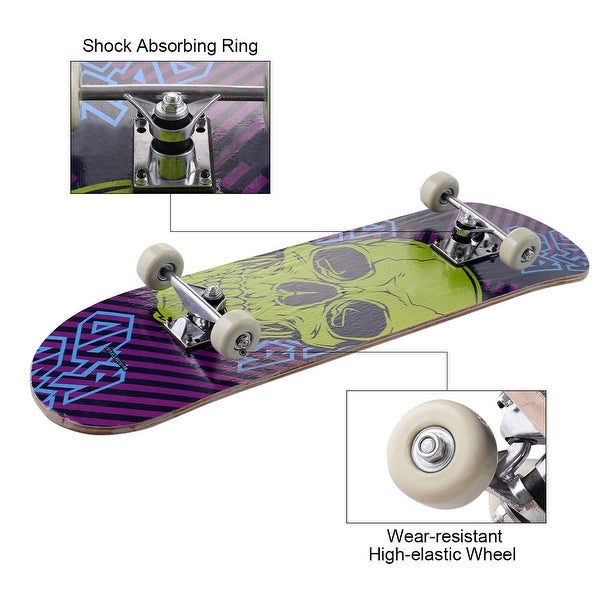 "31/"" x 8/"" Professional Skateboard Longboard Complete Trucks Maple Deck Wood Gift~"