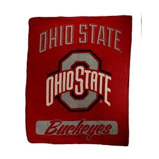 Ohio State Buckeyes Plush Micro Raschel Throw Blanket - Red