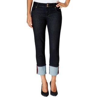 Kut From The Kloth Womens Straight Leg Jeans Stretch Rolled