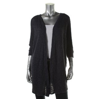 VELVET BY GRAHAM & SPENCER Womens Open Stitch Elbow Sleeves Cardigan Sweater - S