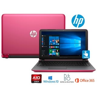 "HP Pavilion 15-ab218cy Laptop, AMD A10-8700P, 15.6"" HD Touchscreen, Office 365 (Manufacturer Refurbished) - Pink"