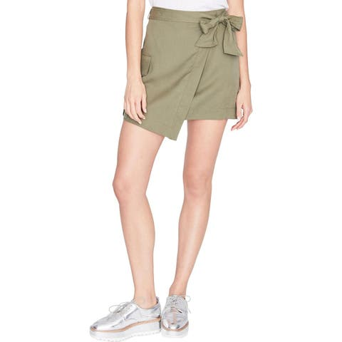 Rachel Rachel Roy Womens Wrap Skirt Utility Pocket
