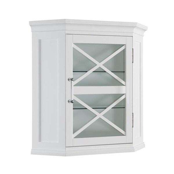Elegant Home Fashions ELG 630 Blue Ridge Corner Wall Cabinet In White