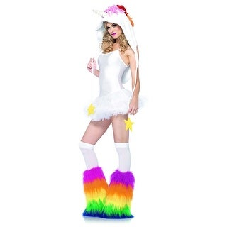 Fleece Unicorn Hood Adult Costume Accessory