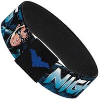 Nightwing Poses Logo Black Blues Elastic Bracelet