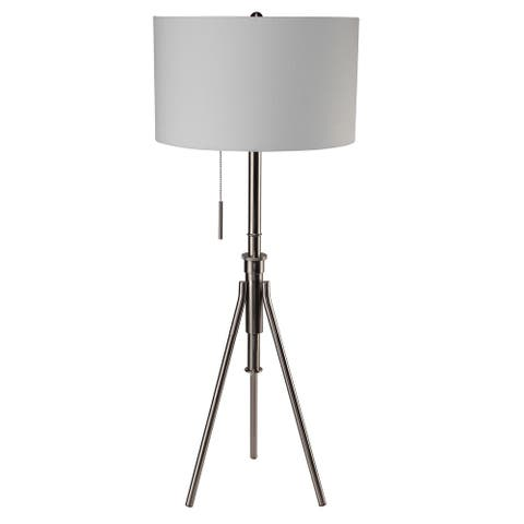 SINTECHNO S-31171F-SN Contemporary Adjustable Tripod Floor Lamp - See Details