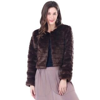Mad Style Khaki Mila Faux Fur Waist Coat S