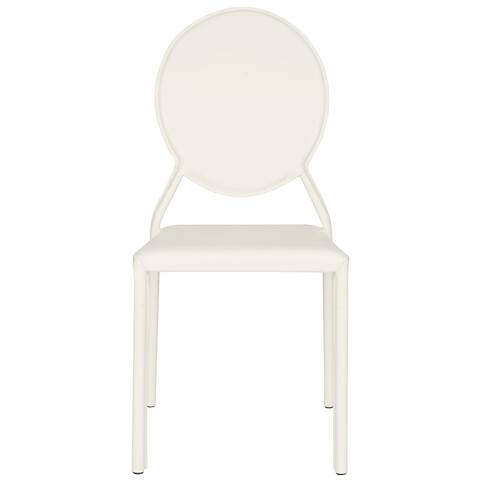 "Safavieh Dining Mid-Century Warner White Dining Chairs (Set of 2) - 17.3"" x 22.5"" x 37.4"""