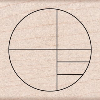 """Hero Arts Mounted Rubber Stamp 2""""X2""""-Small Circle Grid"""