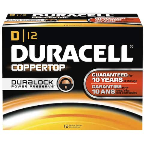 Duracell DMN1300BKD Coppertop D Battery, Bulk (Package of 12)