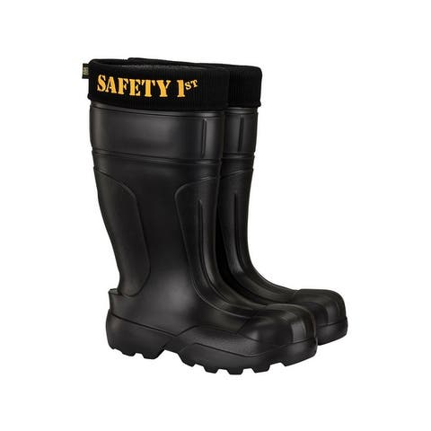 Safety 1st Ultralight Mens Black Steel Toe Anti-Pentration Kevlar Work Boots
