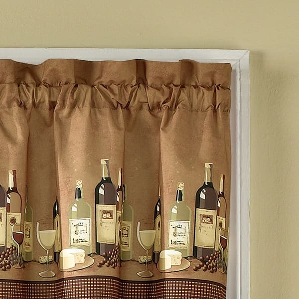 Wines 3 Piece Kitchen Curtain Tier Set Overstock 27102362