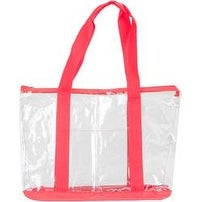 "Red - All-Purpose Clear Tote Bag 19""X14""X6"""