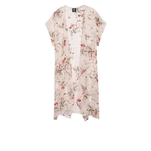 Bobeau Brianna Plus Size Print Long Kimono